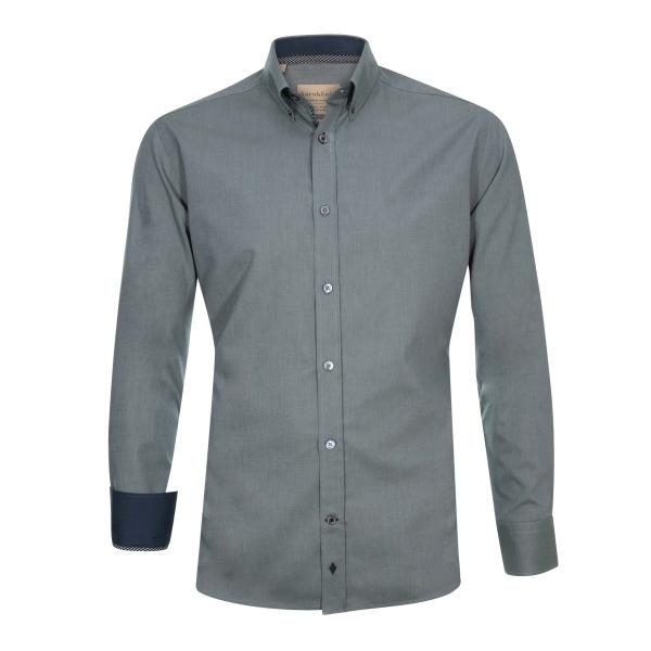 Einfarbiges Herren Hemd aus Bio-Baumwolle
