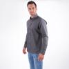 Herren Hemd dunkelgrau regular fit